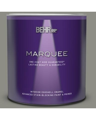 BEHR MARQUEE 1 qt. #N370-5 Incognito One-Coat Hide Eggshell Enamel Interior Paint & Primer