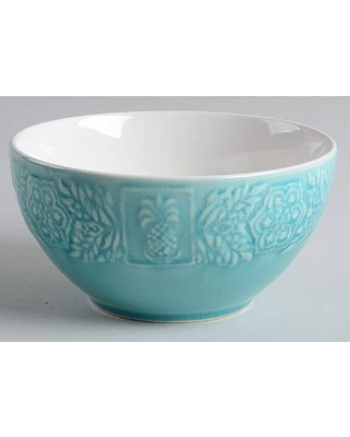 Roscher & Co Pineapple Turquoise Soup/Cereal Bowl