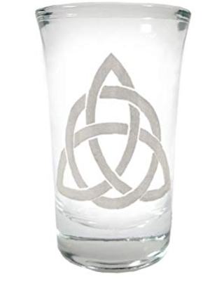 Celtic Trinity Knot Engraved Shot Glass - Free Personalization