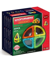 Magformers Curve (20-Pieces) Building Set Rainbow Colors Magnetic Building Blocks, Educational Magnetic Tiles Kit , Magnetic Construction STEM Toy Set