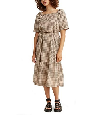 Levi's Women's Bailey Dress, Una Plaid Safari, Medium