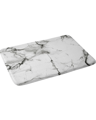 """Chelsea Victoria Bath Rugs And Mats Black and White 24"""" x 36"""" - Deny Designs"""