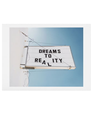 Deny Designs Dreams To Reality Art Print, Size One Size - Blue