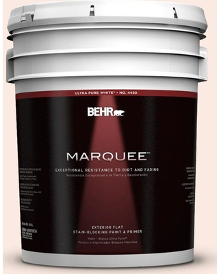 BEHR MARQUEE 5 gal. #240C-1 Pink Blossom Flat Exterior Paint and Primer in One