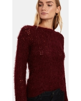 Hot Lashes Fuzzy Pointelle Sweater - M