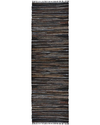 MATADOR Mixed Brown Leather 2 ft. 6 in. x 12 ft. Runner