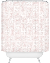 Mosaic Shower Curtain Pink - Deny Designs