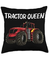 Best Tractor Engine Mining Loading Monster Designs Cool Tractor Gift For Women Aunt Big Farming Vehicle Truck Throw Pillow, 18x18, Multicolor