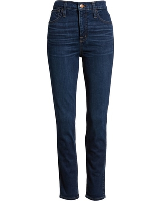 Plus Size Women's Madewell 10-Inch High Rise Skinny Jeans, Size 37 - Blue