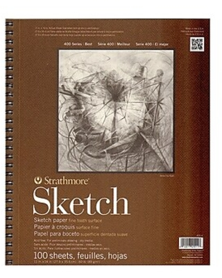 Strathmore Series 400 Sketch Pads 11 in. x 14 in. 100 sheets [Pack of 2],Size: med