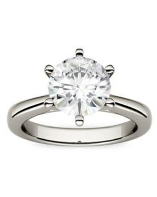 Charles & Colvard White Gold 1.9 ct. t.w. Lab Created Moissanite Solitaire Ring in 14K White Gold