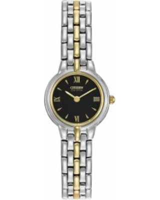 plusCitizen Eco-Drive Women's Silhouette Two Tone Stainless Steel Watch - EW9334-52E, Size: 2XL