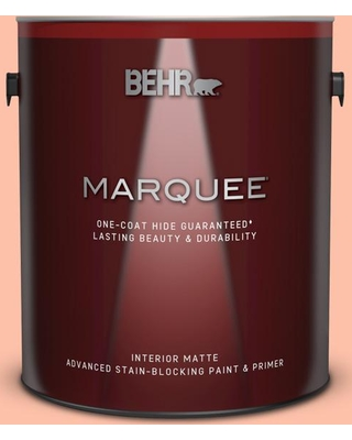 BEHR MARQUEE 1 gal. #220A-3 Sweet Apricot Matte Interior Paint & Primer
