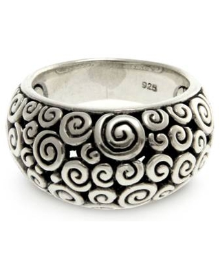 Artisan Crafted Sterling Silver Dome Ring
