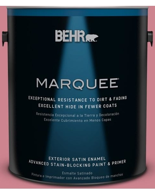 BEHR MARQUEE 1 gal. #130D-4 Rose Sachet Satin Enamel Exterior Paint and Primer in One