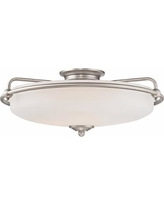 Quoizel Griffin Extra Large Nickel Floating Ceiling Light
