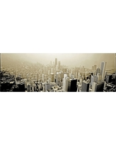 'Chicago Skyline' by Preston Ready to Hang Canvas Wall Art, Gray