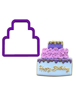 Cake Cookie Cutter - Birthday Cake Cookie Cutter - Birthday Cookie Cutters - Wedding Cake Cookie Cutter - Wedding Cookie Cutters - Cutters