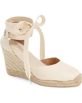 Women's Soludos Wedge Lace-Up Espadrille Sandal, Size 10 M - Beige