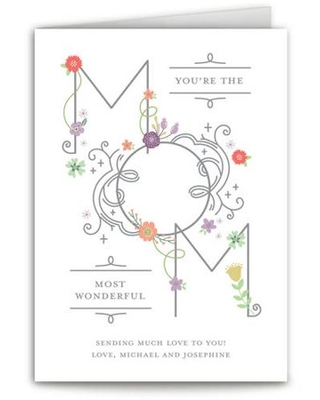 Wonderful Mom Mother's Day Greeting Card
