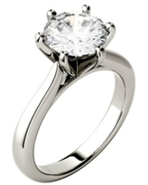 Moissanite Solitaire Engagement Ring 1-9/10 ct. t.w. Diamond Equivalent in 14k White, Yellow or Rose Gold