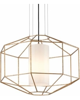 "Silhouette 25 1/2"" Wide Gold Leaf Pendant Light"