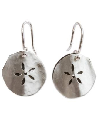 Handcrafted Mexican Taxco Silver Sea Life Earrings