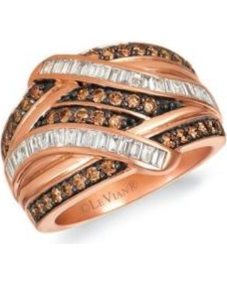 2ae8d0c94 Le Vian Strawberry Gold Baguette Frenzy™ 5/8 ct. t.w. Chocolate Diamonds and