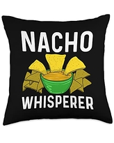 Best Nacho Beef Cheese Tortillas Corn Meal Designs Cool Nacho Gift For Men Women Taco Chips Mexican Snack Food Throw Pillow, 18x18, Multicolor