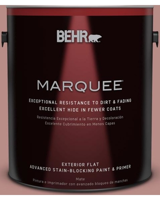 BEHR MARQUEE 1 gal. #170F-5 Brick Dust Flat Exterior Paint and Primer in One