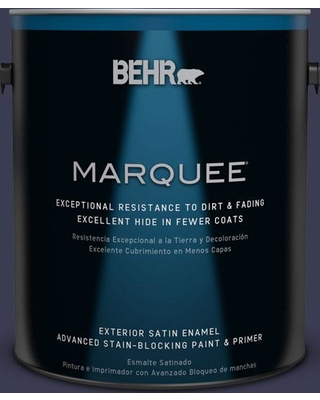 BEHR MARQUEE 1 gal. Home Decorators Collection #HDC-WR16-03 Blueberry Tart Satin Enamel Exterior Paint & Primer