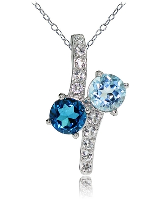 Blue and White Friendship Necklace
