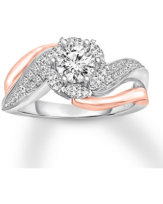 Diamond Engagement Ring 3/4 ct tw 14K Two-Tone Gold