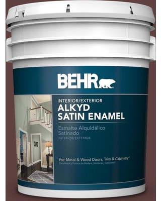 BEHR 5 gal. #BXC-21 Chicory Root Urethane Alkyd Satin Enamel Interior/Exterior Paint