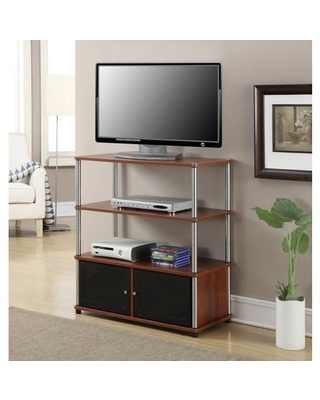 Convenience Concepts Designs2Go Highboy TV Stand, Cherry