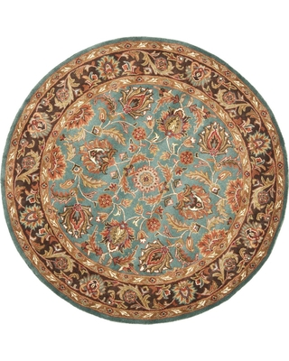 Blue/Brown Floral Tufted Round Area Rug 3'6 - Safavieh