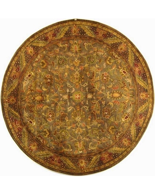 Safavieh Antiquity Blue/Gold 8 ft. x 8 ft. Round Area Rug