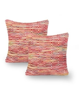 Beaubien Boho Cotton and Wool Throw Pillow (Set of 2) by Christopher Knight Home (Multicolor)