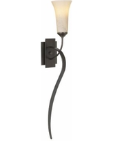 Hubbardton Forge Smoke Finish Taper Wall Sconce