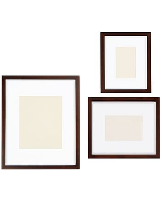 Wood Gallery Single Opening Frame, Set of 3 (includes 4x6, 5x7, 8x10) - Espresso