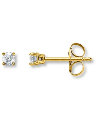 Diamond Earrings 1/20 ct tw Round-cut 14K Yellow Gold
