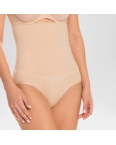 Assets by Spanx Women's Remarkable Results High Waist Control Brief - Light Beige XL