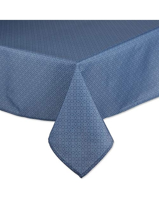 DII Outdoor Tabletop Collection Tonal Lattice, Tablecloth, 60x120, French Blue