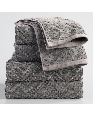 Charcoal Gray Geo Nova Towel Collection by World Market