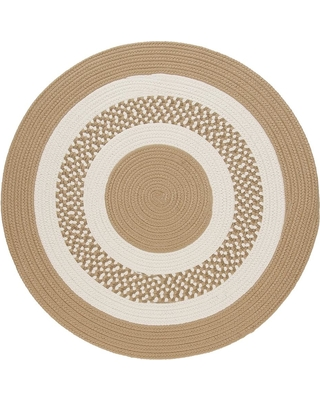Home Decorators Collection Spiral II Cuban Sand 6 ft. x 6 ft. Indoor/Outdoor Round Area Rug