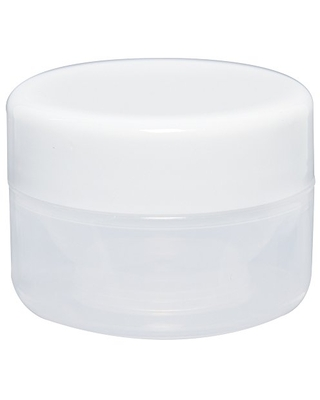 """ForPro Natural Plastic Jar with White Lid, Round Storage Containers, for Cosmetics, Food, Medicine, Paint.85 oz, 1.5"""" H x 2.1"""" D, 12Count"""