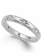 Star by Marchesa Diamond Star Wedding Band in 18k White Gold (1/8 ct. t.w.), Created for Macy's - White Gold