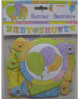 Unique Baby Shower Jointed Banner, 1ct