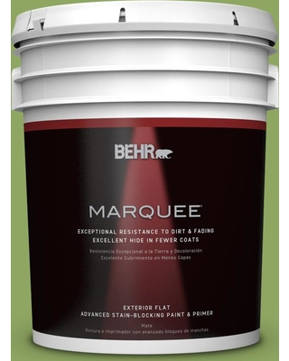BEHR MARQUEE 5 gal. #PPU10-04 New Bamboo Flat Exterior Paint and Primer in One