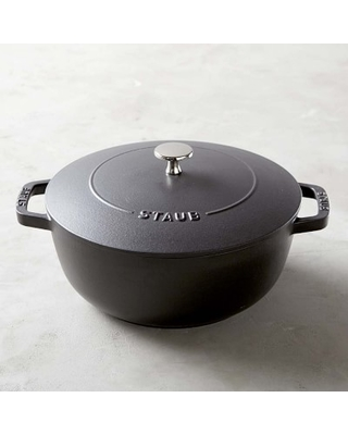 Staub Enameled Cast Iron Essential French Oven, 3 3/4-Qt., Matte Black